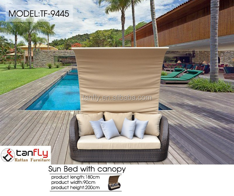 Best furniture poland garden sun canopy with three seats.
