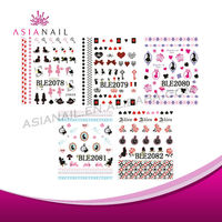 Lovely Directly Sticked Various Color Creative DIY 3D Nail Sticker/Sticker Nail