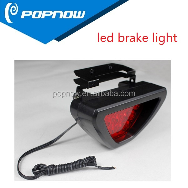 Hot selling F1 Classic Style Tail Brake Light 12 LEDS Flash Led Brake Light with RED BLUE WHITE Light Colors for Options