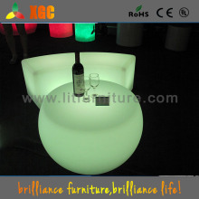 led illuminated bar table/extendable round table/led liquid bar table/round bar table