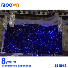 black color led star drop curtain led light stage curtain with dmx