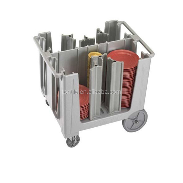 American Brand High Quality Dish vehicle Mobile Dish Caddies Removable plate trolley Adjustable Dish Rack