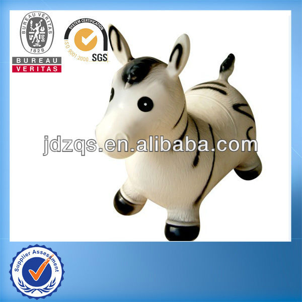 PVC-Plastic animal toy/ride on jumping animal toy