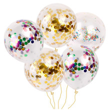 12inch Latex Clear Baby Shower Ballon Birthday Party Decoration Kids Inflatable Confetti Balloon