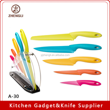 A-30-2 YangJiang Eco-Friendly Kitchen Knife Set of 6 Pieces With Acrylic Block