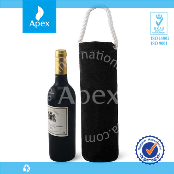 Portable customized canvas wine bag