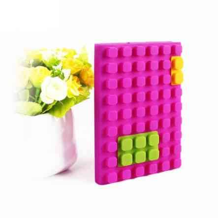 newest waterproof silicone squar blocks building blank paper notebook/diary/journal