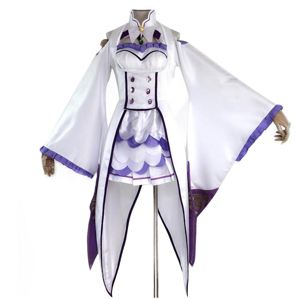 Winner Re Zero Kara Hajimeru Isekai Seikatsu Emilia Cosplay Elf Costume Costume Fancy Dress Halloween Costumes for Women