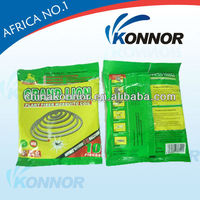 china konnor 137mm unbreakble mosquito coil, somkeless paper insecticide repellent coil