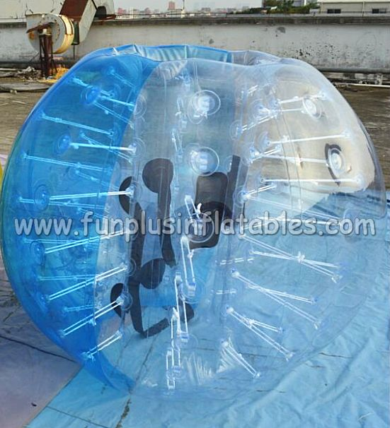 Blue color small inflatable body bumper ball for kids F7039B