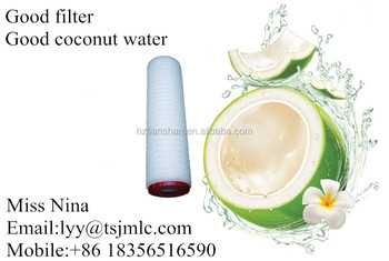 Factory wholesale 5 micron 20 inch PP membrane filter cartridge for removing particle from coconut water