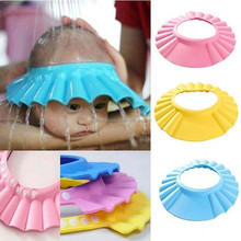 Soft Baby Shower wash hair Shield Hat cap Protects your baby or toddler's eyes