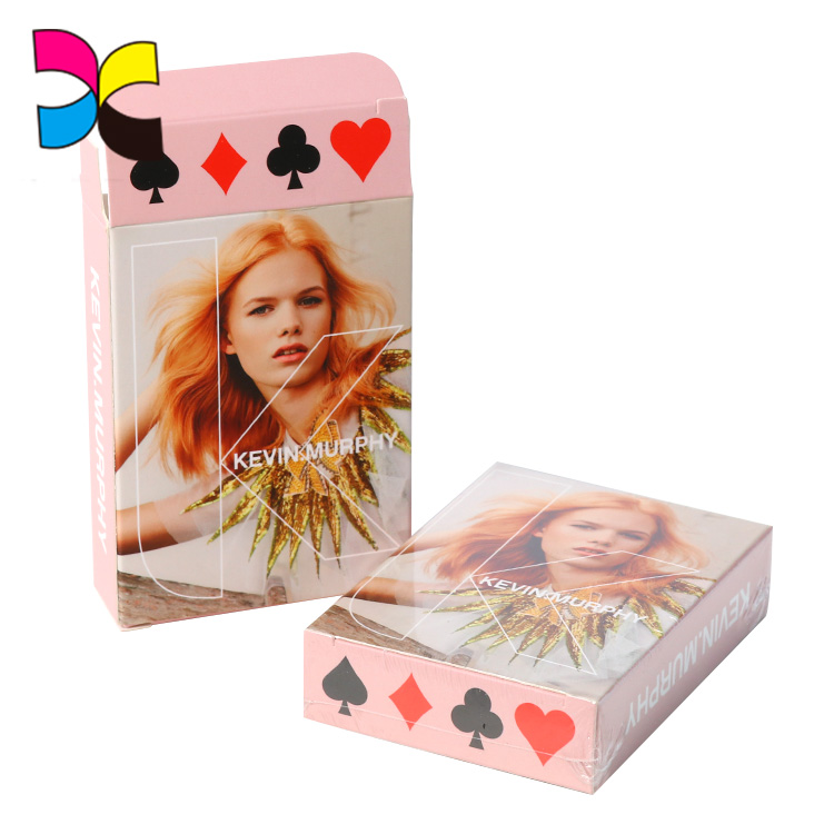 Wholesale manufacturer customized logo printing professional poker novelty playing cards