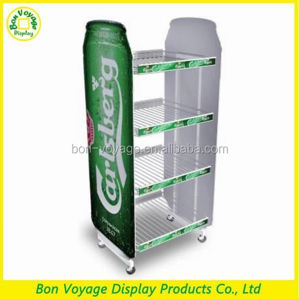 Bespoke glass bottle beer bottle storage rack