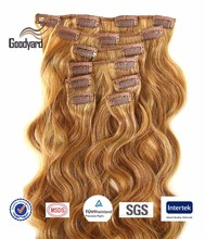 Top Grade High Quality Wave Virgin Brazilian Wholesale Clip In Hair Extensions From Goodyardhair