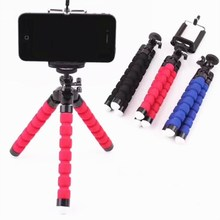 Portable And Cheap Mini Flexible Octopus Sponge Camera Tripod For Mobile Phone