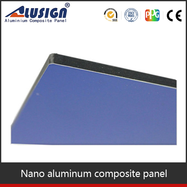 Alusign high quality color coating plastic exterior acp panel building decorative materials