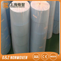 Cross lapping 80% viscose 20% polyester spunlace nonwoven fabric for wet wipes tissue