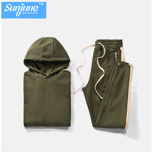 Wholesales Two tone Contrast color hoodie with pants set