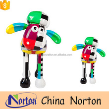 carton character colorful resin sheep garden ornament for sale NTRS-CS095Y