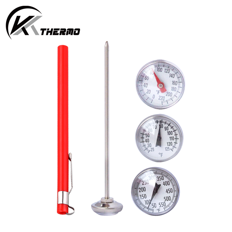 stainless steel probe instant reading bbq grill food dial meat thermometer
