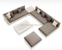 Greece chesterfield designed viro rattan wicker furniture for outdoor garden party u shaped sectional sofa