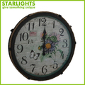 shabby chic vintage decoritive metal wall clock from factory promotion