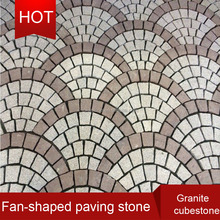 beautiful granite cube stone, round paving stone circle