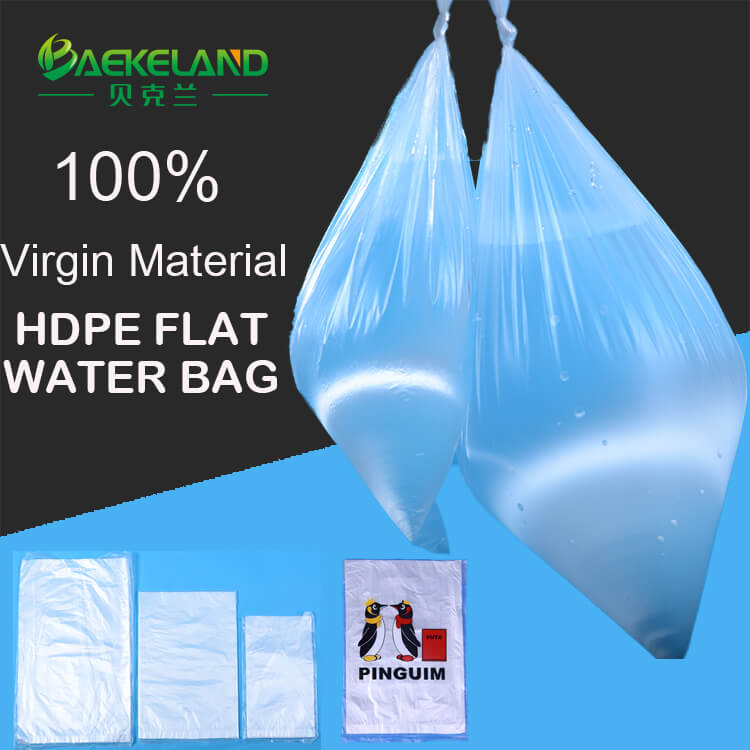 100 virgin material HDPE food packing bags drinking water bags