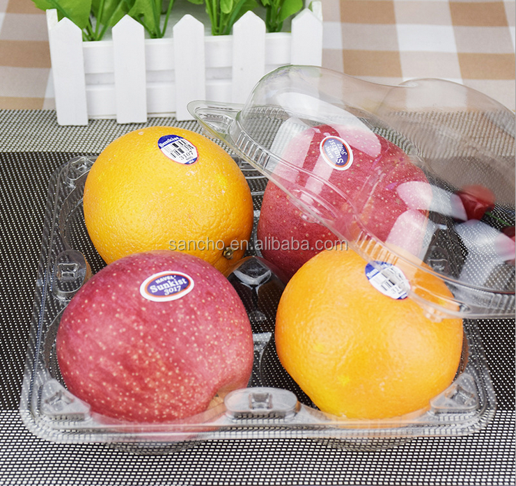 Custom made clear plastic blister tray/fruit container