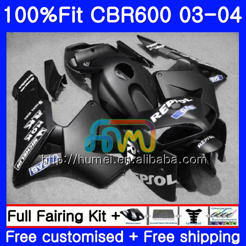 Injection For HONDA CBR 600RR F5 CBR600 RR 03-04 11HM89 Matte Repsol CBR600RR F5 03 04 CBR600F5 CBR 600 RR 2003 2004 Fairing kit