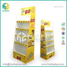HIC oem corrugated shelves fsdu stands for home supplies, standard and elegant display stand for revlon