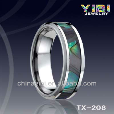 Chinese Alibaba tungsten wholesale engravable jewelry Abalone Shell bridal jewelry