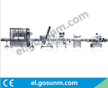 chili sauce bottle sorting filling capping labeling packing machine