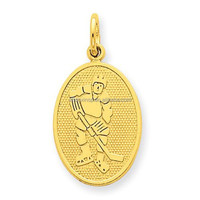 Stainless Steel 14k gold fashion Hockey Sports Pendant