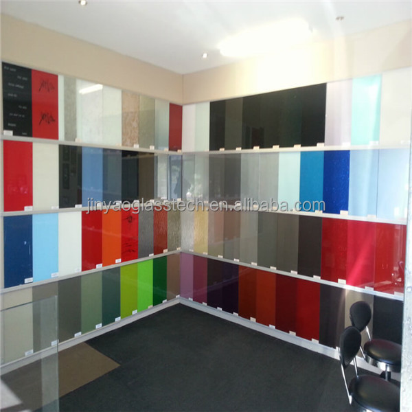 cheap 6mm frosted painted glass/white/black/red frosted painted glass/back paint glass