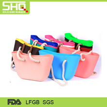 2016 Popular waterproof China Soft Rubber silicone tote bag Ladies Handbags