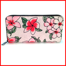 New Ladies Purse Wallet Floral Ladies Leather Wallet Zipp Long Wallet With Change Coin Purse