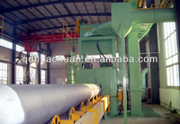 Steel pipe rust descaling machine/Steel pipe descaling rust removal equipment /pipe blasting machine