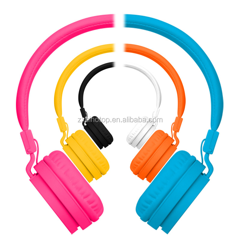2016 Multi-colors And Folding Wired Stereo Headphones For Children Noise-cancellation Headphones