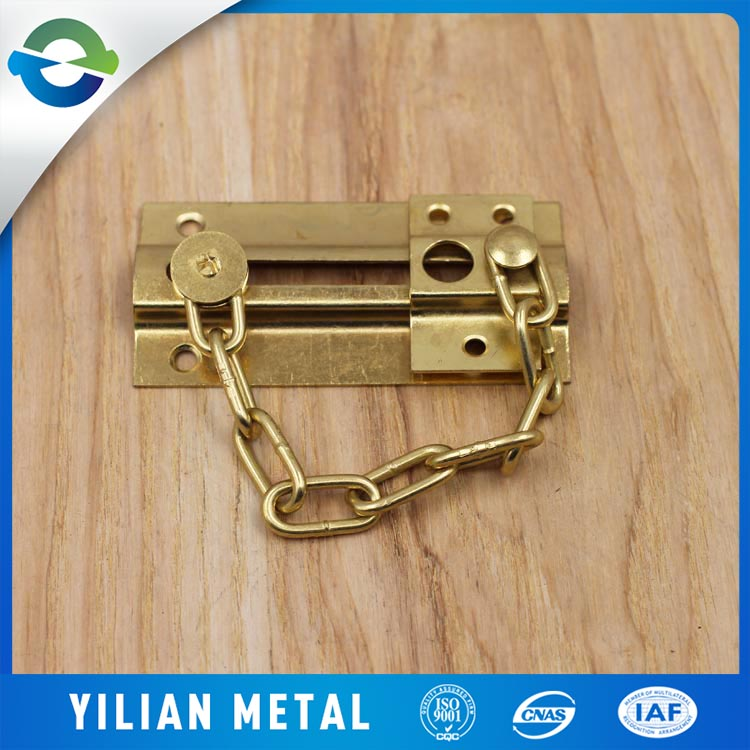 China supplier copper plated safeguard door window chain lock