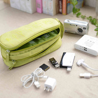 USB Flash Earphone Cable Accessories Storage Carry Case Organiser Bag
