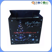 Professional manufacturing LED light up custom design luxury christmas paper bag