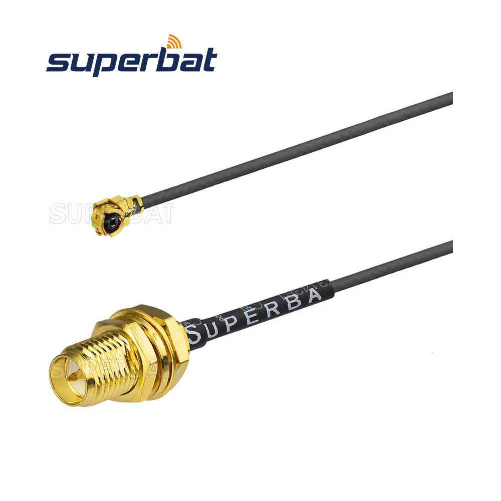 50 Ohm 1.13 cable ufl ipx connector RP-SMA female Jack Pigtail Cable for pci wifi card