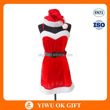 Christmas Adult Sexy Santa Claus Costume Red Santa Costume For Woman