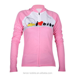 women cycling jerseys breathable cycling clothing pink duck