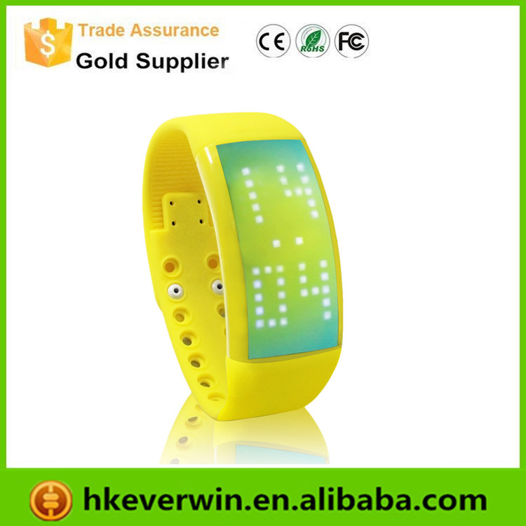 Latest smart wristband bracelet 3d pedometer led watch usb flash drive
