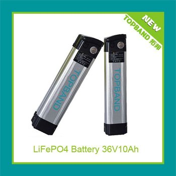 New rechargeable silverfish case electric bike battery 36V10Ah TB3610E-F
