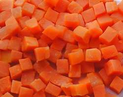 IQF Frozen Bulk Orange Carrot Dices