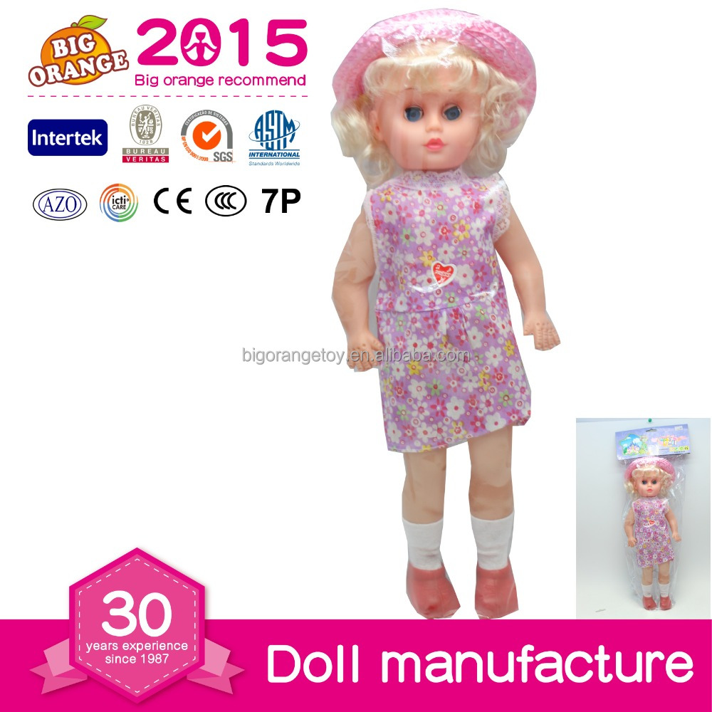 Laughing Real Baby Lovely Talking Doll With Russian Dialogue IC and Hat